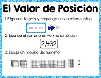 Valor de Posición [Spanish Place Value Math Centers]