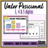 Valor Posicional 3,4 & 5 dígitos   Value Place (SPANISH)
