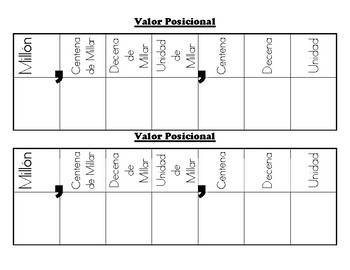 Valor Posicional - interactive notebook