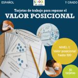Valor posicional: Nivel 1 (Spanish Place Value Review Task Cards: Level 1)