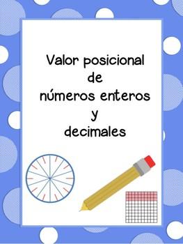 Valor posicional de números enteros y decimales