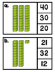 Valor positional 21-40 (Place Value clip cards SPANISH)