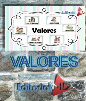 Valores para Niños en Español y en Inglés para Imprimir