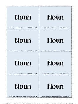 Valuable Sentences: Common Core Parts of Speech Review