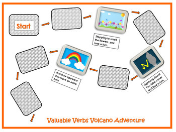 Valuable Verbs Volcano Adventure Game/CCSS Aligned 3rd Grade Up