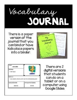 Valuable Vocabulary: The Bundle