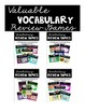 Valuable Vocabulary: The Bundle