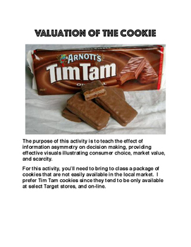 Valuation of Cookies