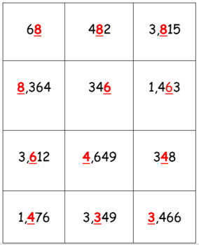 Value Bingo