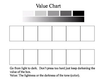 Value Chart- Sketching from light to dark