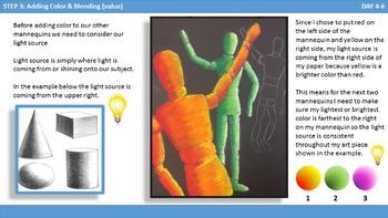 Value & Color Mannequin Drawings Including Light Source Blending & Depth Tips!
