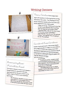Value-Laden Routines & Centers K - 3: A Literacy Coaching Tool