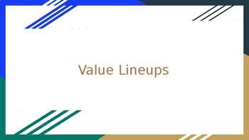 Value Lineups - Midsummer (PPT - Accompanies Graphic Organizer)