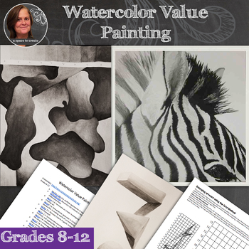 Watercolor Value Painting - Beginning Watercolor Lesson - 2 lessons in 1