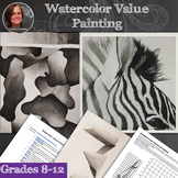 Watercolor Value Painting - Beginning Watercolor Unit