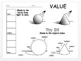 Elements of Art - Value Worksheet - Editable