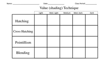 Value Practice worksheets