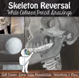 Value Reversal Drawing - Skeletons-White on Black -Middle