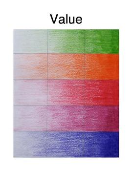 Value Scale Handout for Art Education!