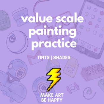 Value Scale Painting Worksheet - Advanced