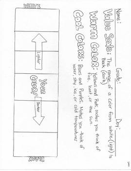 Value Scale graphic organizer