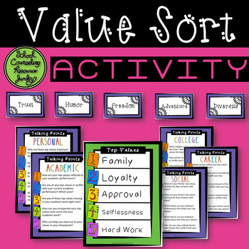 Value Sort Activity: Motivational Interview Counseling