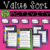 Value Sort Activity: Motivational Interview Counseling Tool