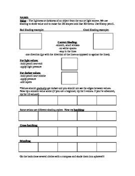 Value Worksheet & Practice