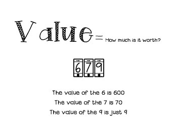 Value anchor chart