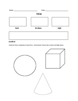 Value and Gradient Practice Worksheet