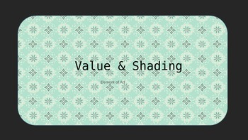 Value and Shading