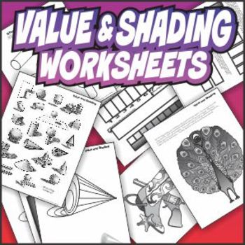 Value and Shading Art Worksheet Set