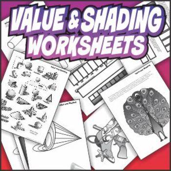 Value and Shading Art Worksheet Set