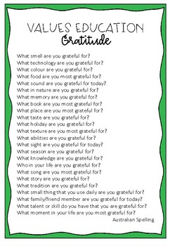 Value of Gratitude