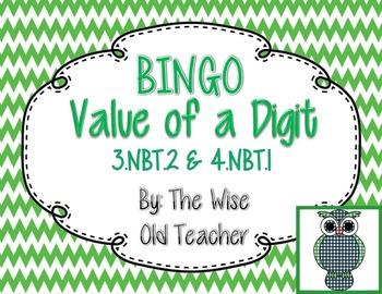 Value of a Digit Bingo PPT with 26 Bingo Cards 3.NBT.2 & 4