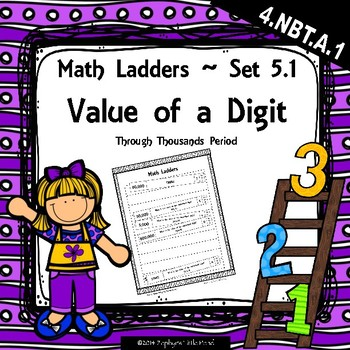 Value of a Digit through Thousands Period -  Set 5.1 {Math
