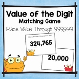 Place Value Matching Activities   Value of the Underlined Digit