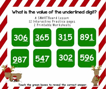 Value of the Underlined Digit - SMARTBoard Practice with W