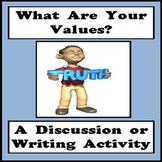 Values Activity - What Are Your Values? - Core Values Activity
