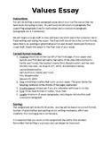 Values Essay