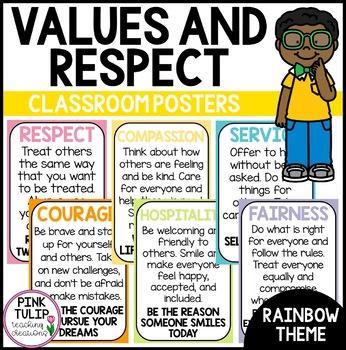 Values Poster Display - Classroom Decoration