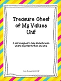 Values Collage--Treasure Chest of My Values Unit
