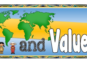 Values and Beliefs banner / Display