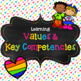 Values and Key Competencies Posters- With Editable Name Labels