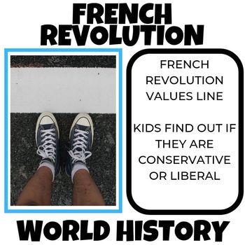 French Revolution Values Line Lesson