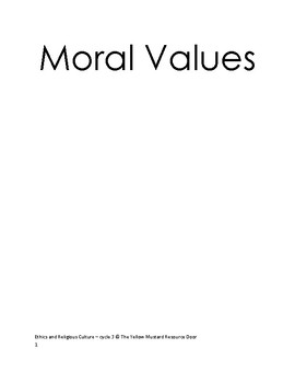 Values - moral and religious