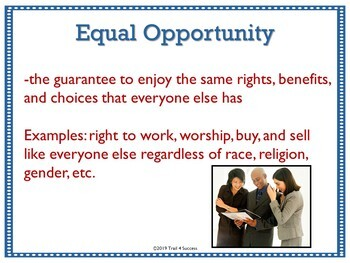 Values of American Democracy Government Interactive Powerpoint