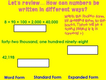 Values of Numbers Introduction Flipchart