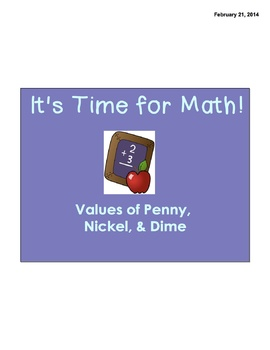 Values of Penny, Nickel and Dime