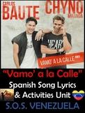 Vamo' a la Calle Spanish Song Lyrics and S.O.S. Venezuela